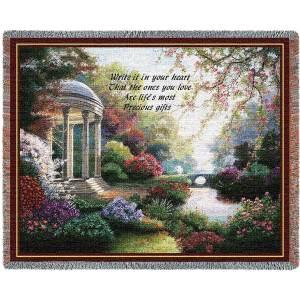 Precious Gifts | Cotton Throw Blanket | 70 x 54