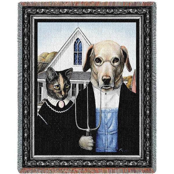 Animal Gothic | Afghan Blanket | 54 x 70