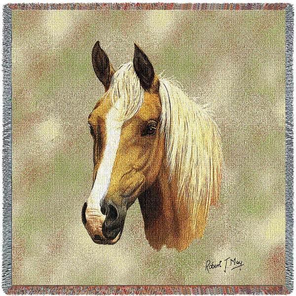 Palomino Horses | Throw Blanket | 54 x 54