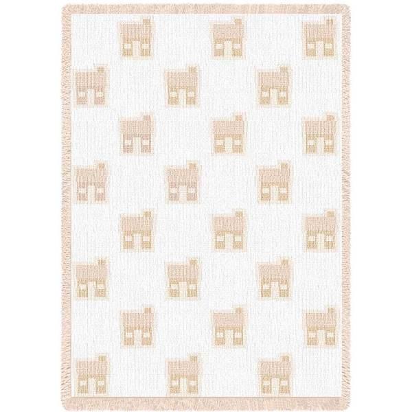 Cabin Natural   Afghan Blanket   48 x 69