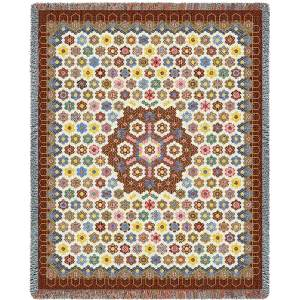 Honeycomb Quilt   Tapestry Blanket   54 x 70