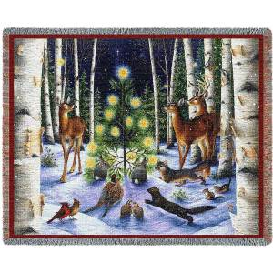 A Simple Tree | Christmas Seasonal Throw Blanket