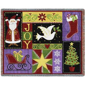 Christmas Icons | Christmas Seasonal Throw Blanket