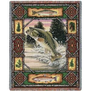 "Fish Lodge   Tapestry Blanket   54"" x 70"""