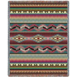 Desert Stripe | Southwestern Throw Blanket | 53 x 70