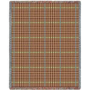 Herringbone Terra Cotta | Tapestry Blanket | 53 x 70