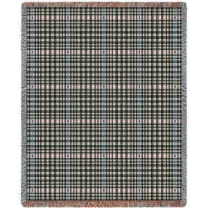 Herringbone Grey   Tapestry Blanket   53 x 70