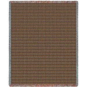 Houndstooth Terra Cotta | Tapestry Blanket | 53 x 70