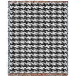 "Houndstooth Grey | Tapestry Blanket | 53"" x 70"""