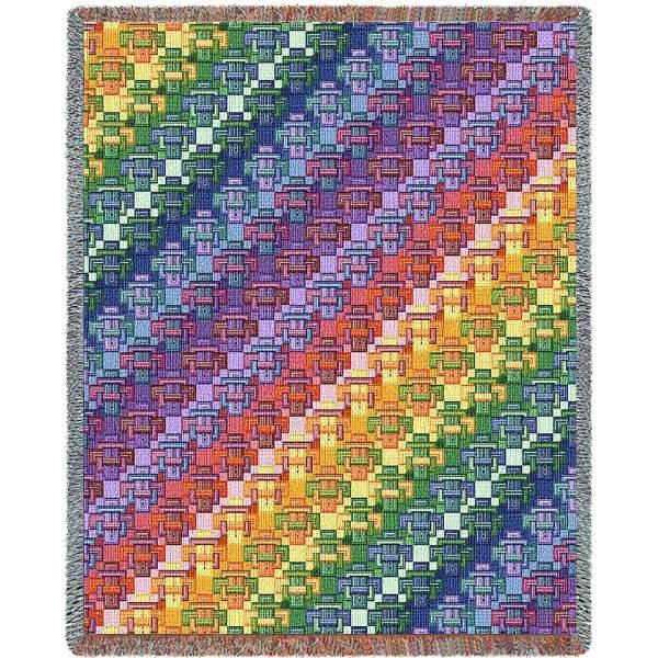 Kaleidoscope | Woven Throw | 53 x 70