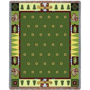 Lodge Creek   Tapestry Blanket   53 x 70