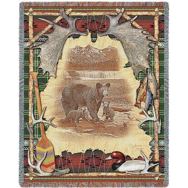 "Antler Lodge | Tapestry Blanket | 54"" x 70"""