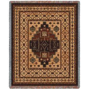 Southwest Sampler Moccasin | Cotton Throw Blanket | 54 x 70