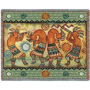 Koko Quartet II | Southwestern Tapestry Blanket | 70 x 54