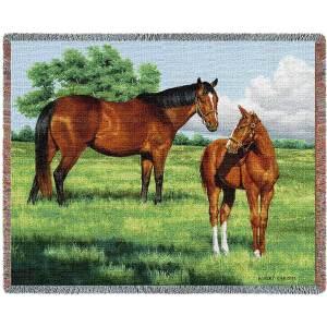 My Pride (Horses)   Tapestry Blanket   70 x 54