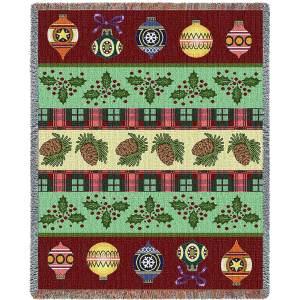 Christmas Banding | Tapestry Blanket | 54 x 70