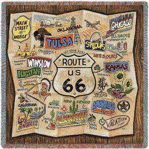 Route 66 | Woven Throw | 53 x 53
