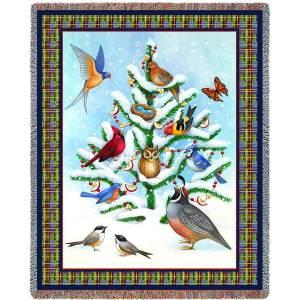 Bird Haven | Cotton Throw Blanket | 53 x 70