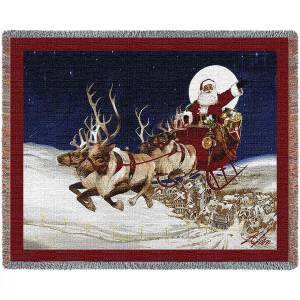 Merry Christmas To All | Woven Blanket