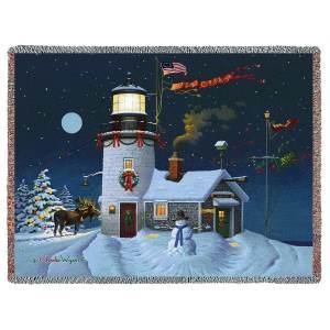 Take Out Window | Charles Wysocki | Christmas Throw Blanket