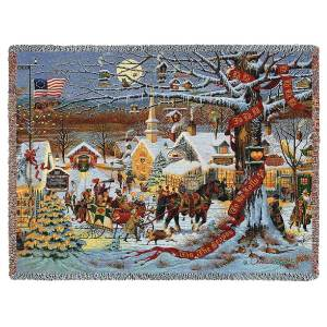 Small Town Christmas | Charles Wysocki Throw Blanket