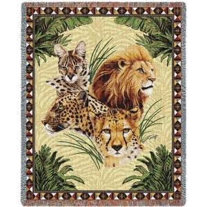 Big Cats | Woven Throw Blanket | 53 x 70