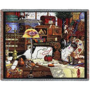 Charles Wysocki | Maggie The Messmaker | Throw Blanket | 70 x 54
