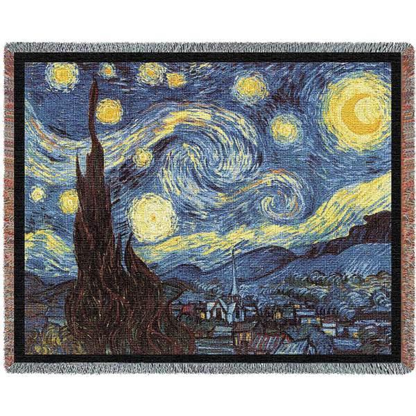 Starry Night   Afghan Blanket   70 x 54