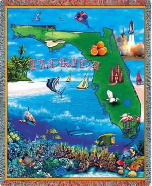 "Florida | Tapestry Blanket | 54"" x 70"""