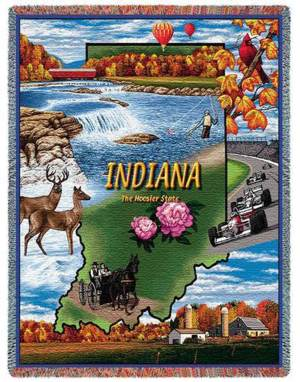 "Indiana | Tapestry Blanket | 54"" x 70"""