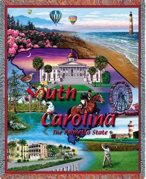 South Carolina | Tapestry Blanket | 54 x 70