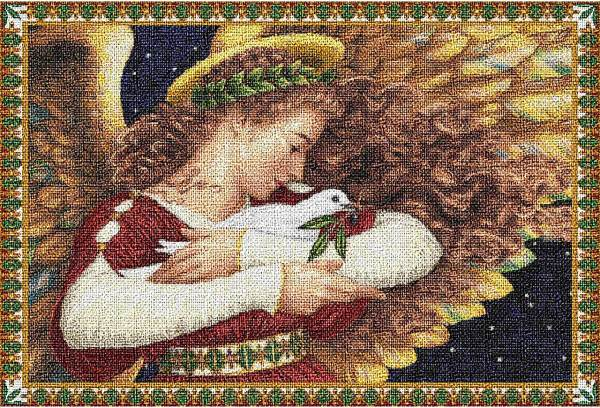 Angel and Dove | Christmas Placemats | 13 x 18