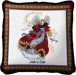Angel Of Light   Christmas Throw Pillow   17 x 17