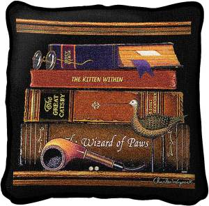 Charles Wysocki | Classic Tails II | Decorative Throw Pillow | 17 x 17