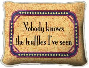 Truffles | Woven Tapestry Throw Pillow | 9 x 13