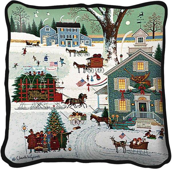 Cape Cod Christmas | Charles Wysocki | Christmas PIllow