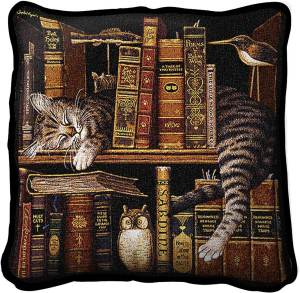 Charles Wysocki | Frederick The Literate | Throw Pillow | 17 x 17