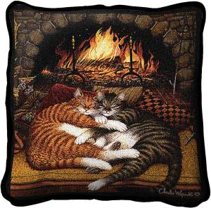 Charles Wysocki | All Burned Out | Throw Pillow | 18 x 17