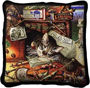 Charles Wysocki | Max In Adirondacks | Throw Pillow | 17 x 17