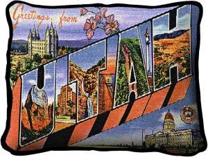 Greetings From Utah | Tapestry Pillow | 11 x 18