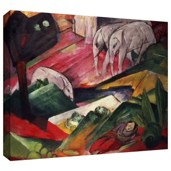 The Dream by Franz Marc Painting Print on Gallery Wrapped Canvas