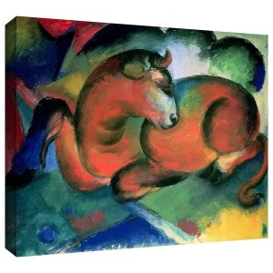 The Red Bull Franz Marc Canvas Art