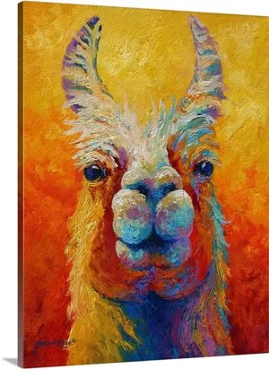 You Lookin'at Me? by Marion Rose Art Print on Canvas