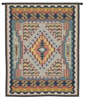 "Woven Southwest Turquoise | 43"" x 53"" 