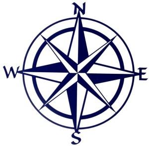 "Compass Rose 20"" | Metal Nautical Wall Art | Metal Art"