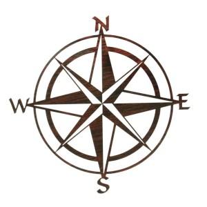 "Compass Rose 20""   Nautical Metal Wall Art"