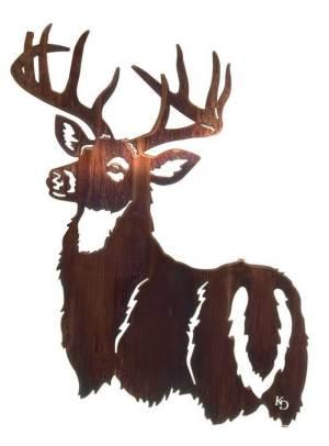 "His Majesty ( Deer ) | 24"" | Metal Wall Art"