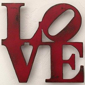 LOVE Sign Metal Wall Art