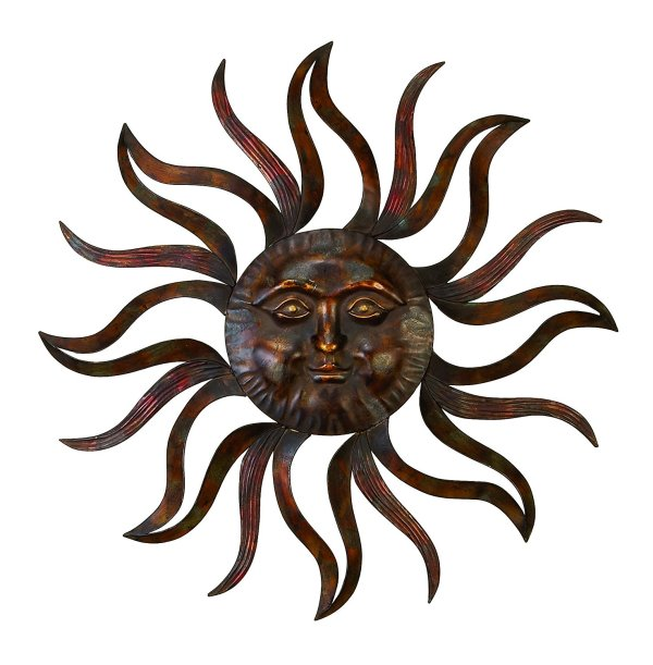 Feel Every Morning | Metal Sun Wall Decor