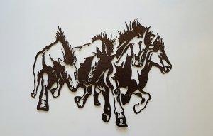 "Running Horses Country & Rustic Metal Wall Art | 19"""